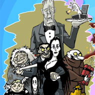 Jolly Jigsaw Addams Family