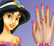 Princess Jasmine Nails Makeover