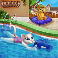 Talking Angela Swimming Pool
