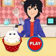 Cute Baymax Cupcake