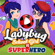 Ladybug School Girl Vs Superhero