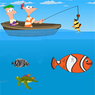 Phineas and Ferb Fishing