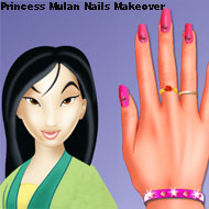 Princess Mulan Nails Makeover