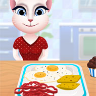 Talking Angela Cooking Breakfast