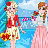 Frozen Sisters Valentine Date