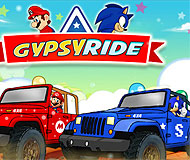 Jeeps Ride Mario vs Sonic