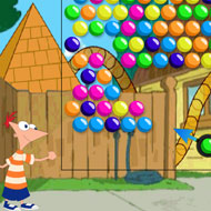 Phineas and Ferb Bubble Shooting