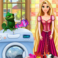 Rapunzel Washing Clothes