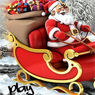 Santa Christmas Delivery Snow