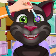 Talking Tom at Eye Clinic